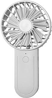 Kcibyvx Mini ventilador de mano con gancho telescópico portátil, carga USB, 3 ajustes de velocidad, enfriador de aire para camping, viajes al aire libre, hogar, oficina, uso