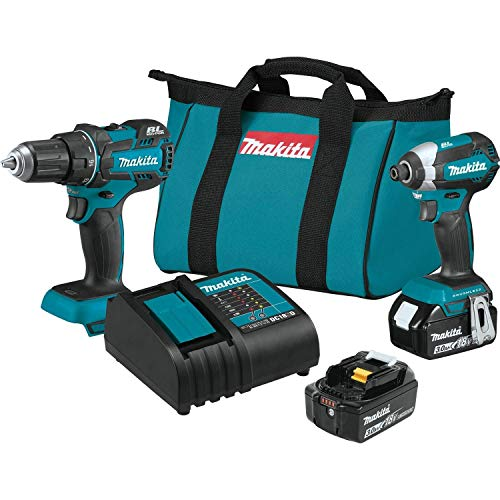 MAKITA XT279S 18V LXT Brushless Cordless Drill/Impact Driver 2-Pc Combo Kit (Renewed)