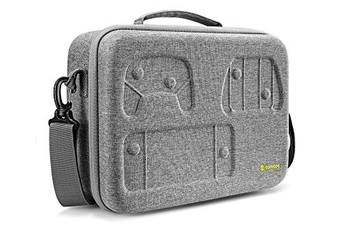 Travel Carrying Case for Nintendo Switch System, tomtoc Protective Hard Case Storage Shoulder Bag with 32 Game-Card Slots Fit for Switch Console, Pro Controller, Dock and Accessories, Upgraded Version