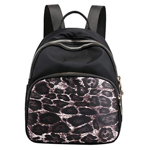 PANPANY Zaini a Tracolla Messenger Impermeabile in Nylon Moda Femminile Donna Borsa Zaino Bag Viaggio