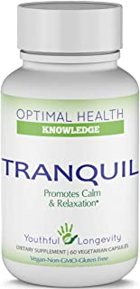 Tranquil for Relaxation - Agmatine and L-Theanine Serotonin Support Supplement - 60 Count
