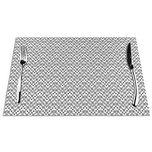 Bernice Winifred Musterringe Punkte Geometrischer Küchentisch Tischsets, rutschfest und waschbar , Ökologisch, Ideal für die Küchengröße 45 * 30 * 0,1 cm 1 PCS