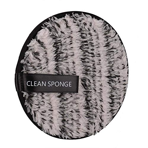 Tampons démaquillants, démaquillant double face pour le visage, démaquillant, feuilleté, serviette nettoyante pour le visage, serviette de nettoyage pour mascara, fard à paupières(Noir)