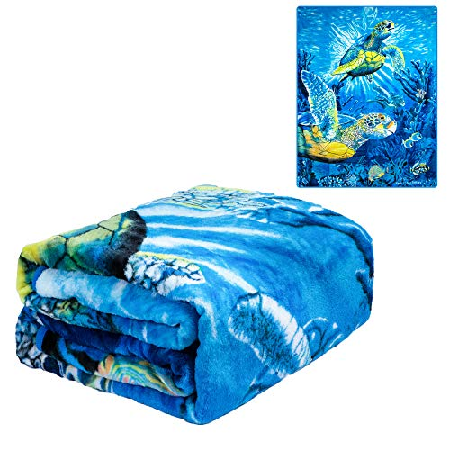 Sea Turtles Lightweight 79'' x 95 '' Queen Blanket - Signature Designed by Steven Gardener - Officially Licensed Special Edition - Super Soft 100% Polyester