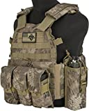 Evike - Avengers Airsoft Tactical Vest 6D9T4A w/Magazine & Radio Pouches - Arid Serpent