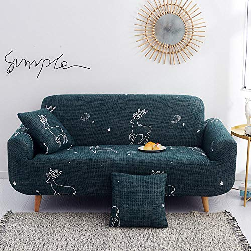 Sectional Sofa slipcover,Stretch Elastic Universal couch Cover,Modern Polyester Corner Sofa Couch Slipcover,Spandex Chair Protector for Living Room 1/2/3/4 Seater Fabric sofa-E_2_Seater/Loveseat