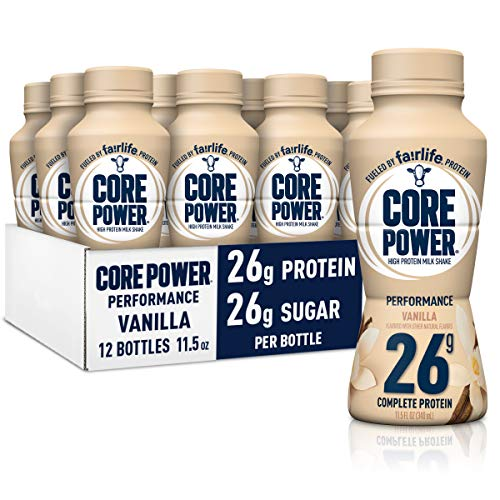 Core Power Protein Shakes (26g), Vanilla, No Artificial Sweeteners, Ready To Drink for Workout Recovery, 11.5 Fl Oz (Pack of 12), Packaging May vary