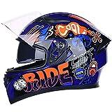 Casco de motocross, casco integral de carretera, casco de moda de cobertura total para motocicleta ATV, motocicleta Enduro, certificación DOT