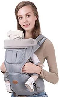 Waist Stool, Baby Light, Four-Year-Old Holding A Newborn Sling, Cross-Holding Newborn Children's Door Strap, Front and Rear Dual-use, Multi-Color (Color : Gray)