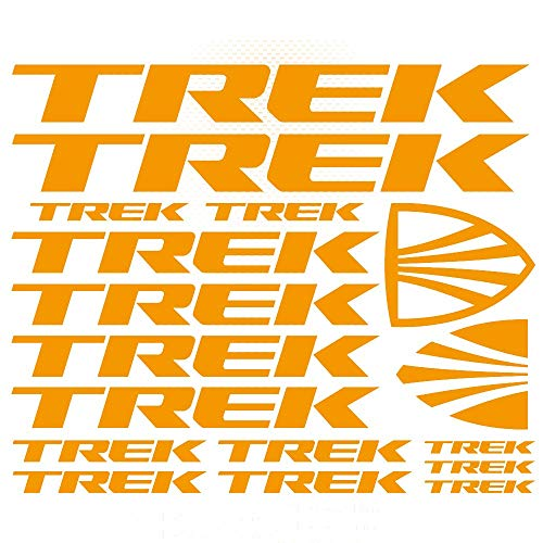 For TREK Bicycle Vinyl Die-Cut Sticker Kit Decal Mountain Bike styling decorative car body sticker RLP01 (YELLOW)