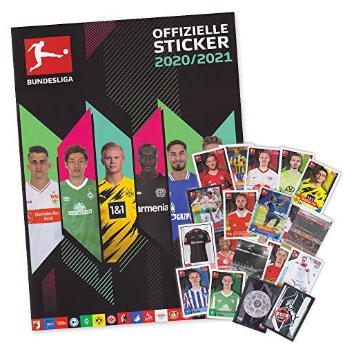 serie Fußball Bundesliga Saison 2020/21 - Starter Album + 50 Sticker gemischt alle Mannschaften (ohne Doppelte)