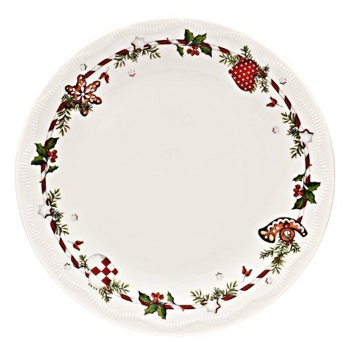 Hutschenreuther 02460-725492-10862 Weihnachtsleckereien Teller flach im Geschenkkarton, 22 cm