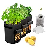 Maylove Potato Grow Bags, 3 Pack 7/10 Gallon Plant Growing...