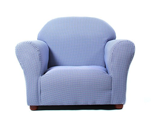 Fantasy Furniture Roundy Chair Gingham, Navy by Fantasy Furniture