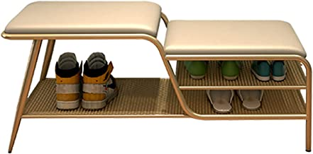 JIANFEI Schoenenrek bank, metalen frame gang bank met technologie doek zachte pad, duurzame toegang opslag organizer, van ...