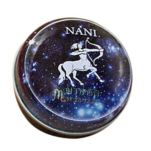 TOOGOO Baume Magique Parfum Solide Déodorant Solide Magie Du Zodiaque de Constellation Pour Les Femmes Hommes (Sagittaire)