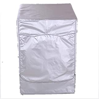 SYJYA Washer Cover  Washing Machine Sunscreen Drum Cover Dustproof Protector for Front Load Dryer Coat Home Laundry Silver