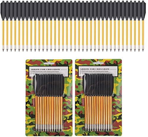 PMSM Aluminium Armbrust Pfeile mit Schlagschrauben, 50 bis 80 LBS für Jagd, Pistolenarmbrust,Armbrustbolzen, Präzisions-Zielscheibe, Bogenschießen (24 Stück)
