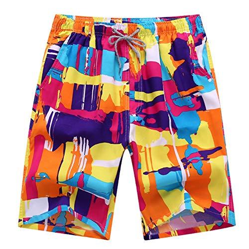 HaiDean Herren Jungen Strand Shorts Bunte Modernas Lässig Schnelltrockende Badehose Badeshorts Kurze Beachshorts Männer Nner In M Bunt (Color : Rot, Size : M)