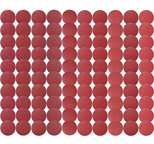 S SATC Premium PSA Sanding Discs 6 Inch 100 PCS 60 80 120 180 240 320 400 600 800 1000 Grit Aluminum Oxide Self Stick Adhesive Sanding Discs for Random Orbital Sander and Belt Disc Sander