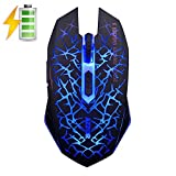 UrChoiceLtd 2017 AZZOR M6 2,4 GHz 2400DPI 6 Badges publicitaires Sans fil Souris Lithium Batteries...