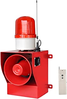 new brand YS-05AY AC110-120V Flashing Light Alarm with Fire Alarm Sounds - Manufacturer With Remote