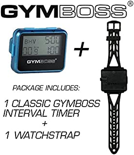 Gymboss Bundle - 2 Items: 1 Interval Timer and Stopwatch + 1 Watch Strap
