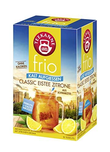 Teekanne frio Classic Eistee Zitrone, 5er Pack (5 x 18 Teebeutel), 5 x 45 g