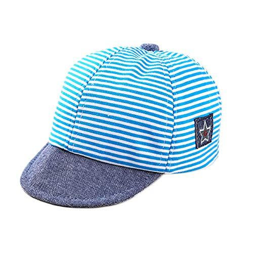 Cappellino da baseball per neonati, in cotone, a righe, per bambini dai 3 ai 12 mesi rosa rosa