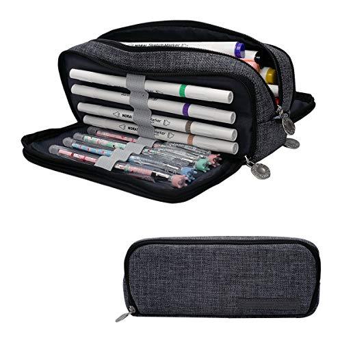 Cindeyar Pencil Case Large Capacity Case Pencils 3 Compartment Pencil Cases...