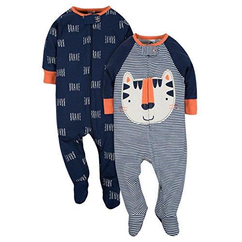 Gerber Baby Boys' 2-Pack Sleep 'N Play, Happy Tiger, 3-6 Months