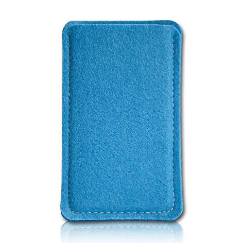 sw-mobile-shop Filz Style Mobistel Cynus E4 Premium Filz Handy Tasche Hülle Etui passgenau für Mobistel Cynus E4 - Farbe königsblau