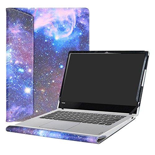 Alapmk Diseñado Especialmente La Funda Protectora de Cuero de PU Para 13.9' Lenovo Yoga 920 920-13ikb/Yoga 910 910-13ikb Ordenador portátil,Galaxy