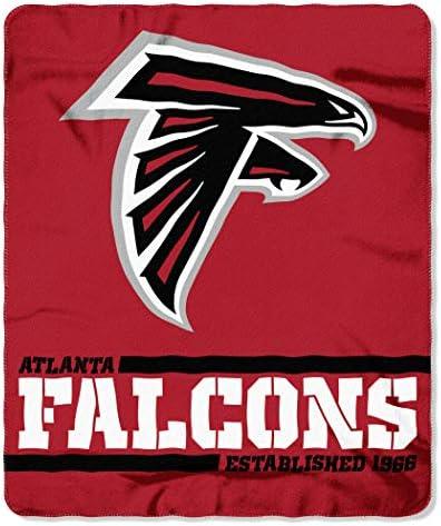 Northwest NFL Atlanta Falcons 50x60 Fleece Split Wide DesignBlanket Team Colors One Size