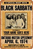 Henson Black Sabbath Vintage Blechschild Logo 30,5 x 20,3