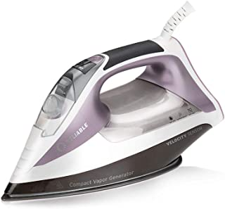 Reliable Velocity 230IR Steam Iron - Compact Sensor Vapor Generator Steam Iron for Clothes with Auto Shut Off, Anodized Al...