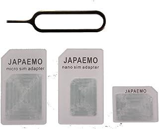 JAPAEMO Amazon限定 nanoSIM変換アダプター for iPhone ホワイト 4点セット