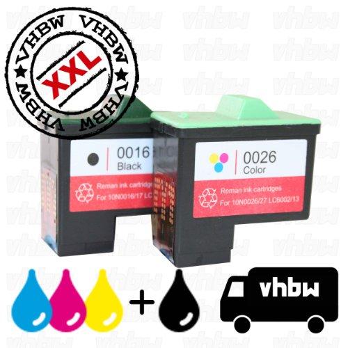 Pack de Ahorro Cartuchos de Tinta reciclados Negro & Color Compatible con LEXMARK 16 & 26