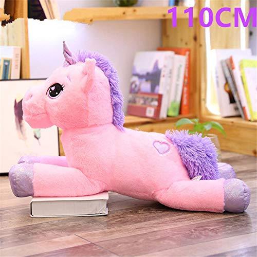 Tamaño Gigante 110 / 60cm Kawaii Unicornio de Peluche de Juguete de Dibujos Animados Populares Muñeca Animal Caballo Juguetes niños Niñas lovepinkpurple11