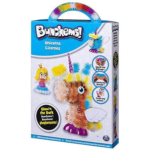 Bunchems - 6039994 - Themen Set Drachen/Einhörner - Kreativ Sets mit fluoreszierenden Bunchems Klettbällchen, Model sortiert