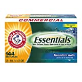 ARM AND HAMMER Box Mountain Rain Dryer Sheets, 144ct - Pack of 1