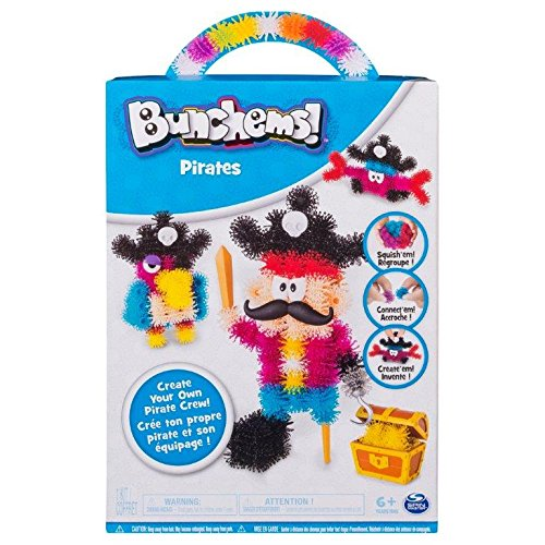Bunchems-BUNCHEMS-6046768-COFFRET THEMATIQUE Pirates Loisirs CREATIF, 6046768, Multicouleur