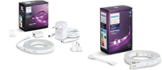 Philips Hue White & Color Ambiance Indoor LightStrips+ 2m base connectique, compatible Bluetooth + Philips Hue White & Col...