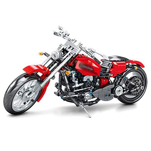 BGOOD Juego de construcción para moto Harley, 782 bloques de sujeción, compatible con Lego Technic