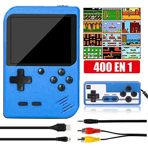 Yicente Consola de Juegos Portátil 400 Juegos Electrónicos Retro 3 Pulgadas Pantalla LCD FC Game Player para 2 Jugadores...
