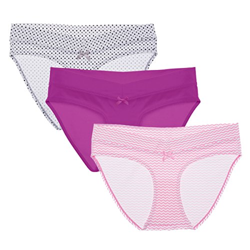 Intimate Portal Stay-Fit Under The Bump Hipster Maternity Cotton Underwear Pregnancy Panties 5-Pk XXL