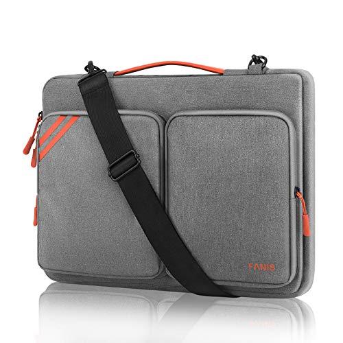 FANIS 14 Pollici Borsa Porta PC, Borsa per Laptop Impermeabile con Tracolla, Custodia Protettiva per Laptop Compatibile con MacBook PRO/Air 13,3 Pollici, ThinkPad, dell