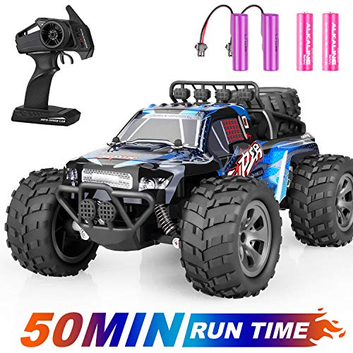 Remote Control Car, ZIPOUTE RC Car 2.4GHZ High Speed Fast RC Racing Car Toys, Off Road Radio Control Cars for Boys, Remote Control Monster Trucks RC Rock Crawler Toy Gifts Kids Toy Cars for Boys Girls