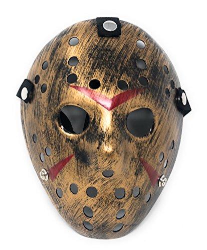 Ultra Adultos Niños Máscara Dorado Halloween vs Máscara de Hockey sobre Hielo Disfraz Hombre Mujer Freddy Festival Cosplay Disfraces