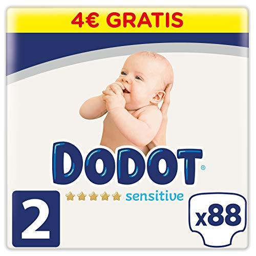 Dodot Sensitive Pañales Talla 2, 92 Pañales, 4 a 8 kg